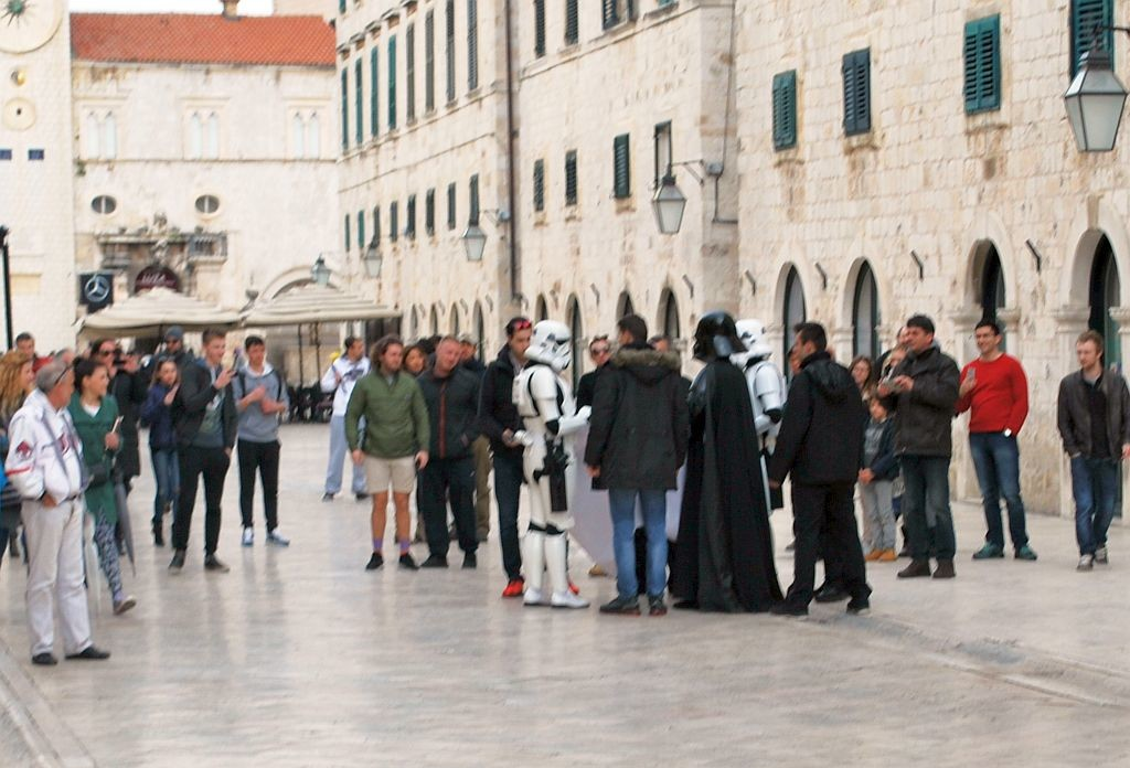Dubrovnik's main street quickly became too crowded for comfort