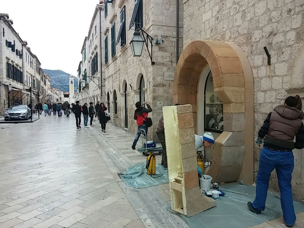 Star Wars Set on Dubrovnik's Main Street