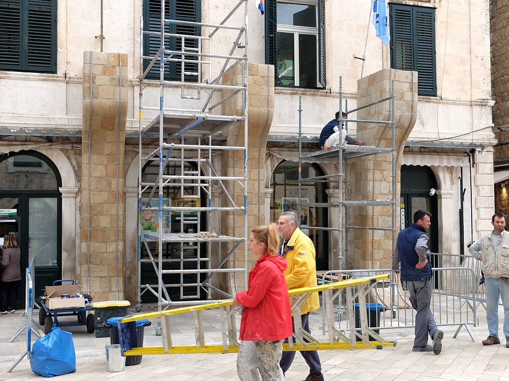 Star Wars sets being built in Dubrovnik