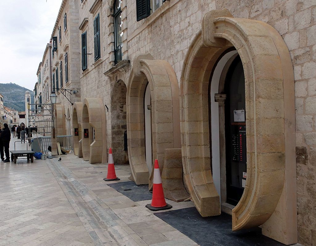 Door portals getting the Star Wars makeover on Dubrovnik's Main Street