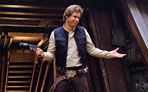 Han Solo Being Cool, photo Lucasfilms