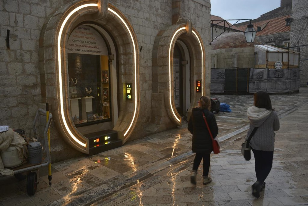 Dubrovnik Star Wars Set Lit Up, photo DuList.hr