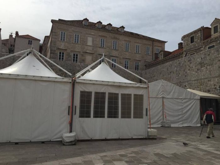 Star Wars support tent in Dubrovnik's Old City Port, photo Marijana Puhiera