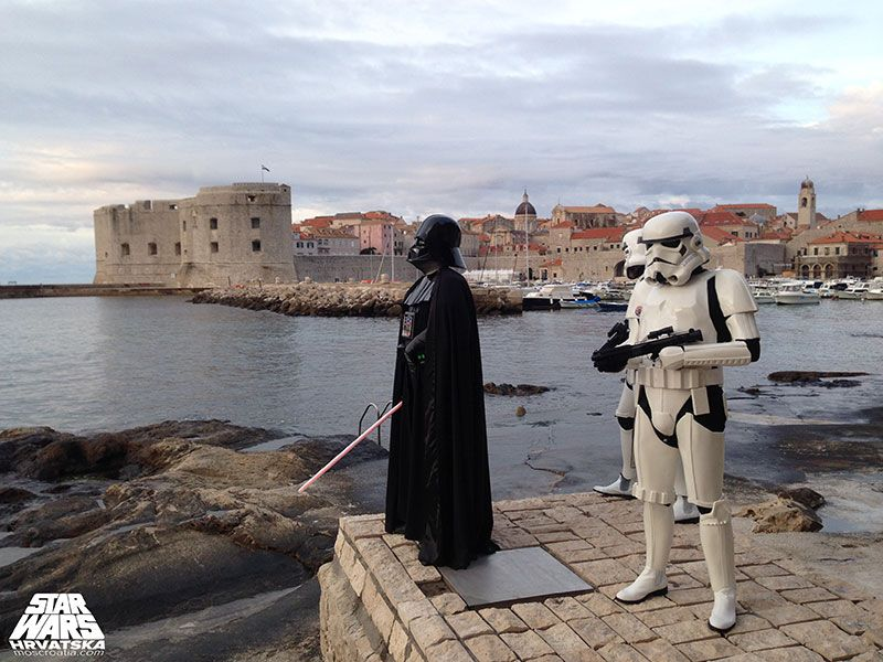 Croatian Star Wars fans visiting Dubrovnik, photo by Star Wars Hrvatska