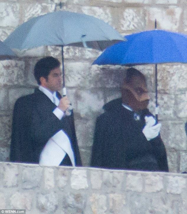 Actors on the set in Dubrovnik, photo DailyMail