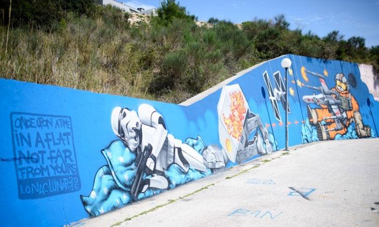 Graffiti mural was done by Lunar and Lonac, Croatian graffiti artists, photo Dubrovnik Times