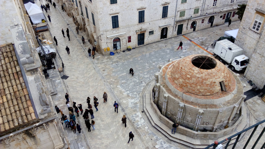 Aerial view of the Great Onofrio's Fountain, photo spacepetuniareview.com