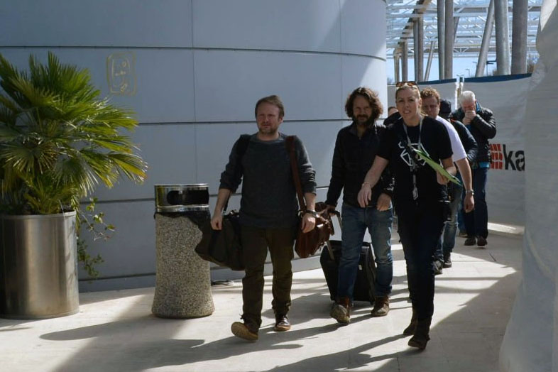 Rian Johnson at Dubrovnik Airport, photo Paula Klaic Saulacic