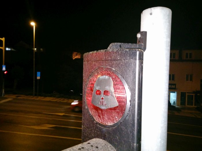 Darth Vader on Dubrovnik's traffic light
