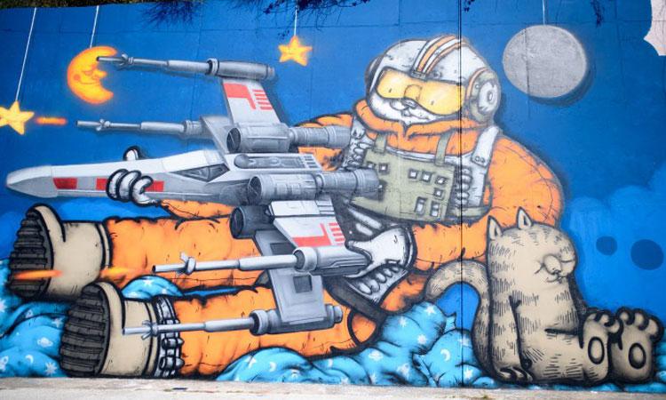 Star Wars graffiti in Dubrovnik's district of Mokosica, photo Dubrovnik Times