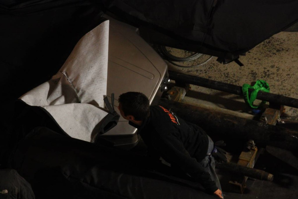 Crew worked hard, long into the night, Photo DuList