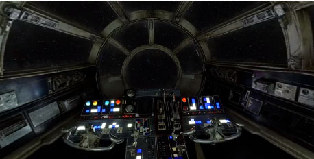 Millennium Falcon cockpit, photo Facebook