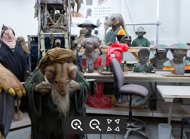 Interactive panoramic view of the Star Wars Creature Shop, photo StarWars.com