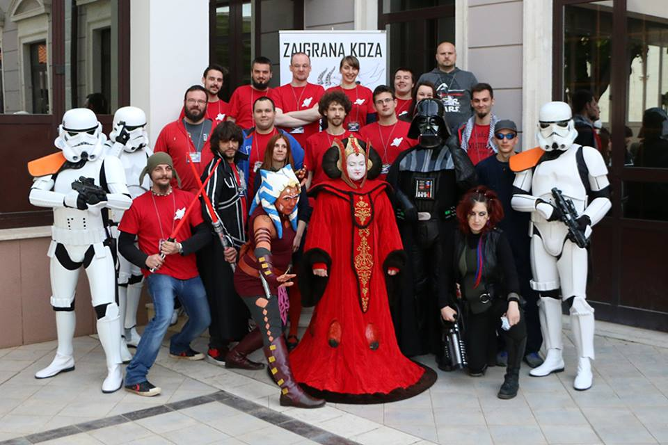 Members of Star Wars Hrvatska came in force with some very nice costumes, photo Zaigrana Koza