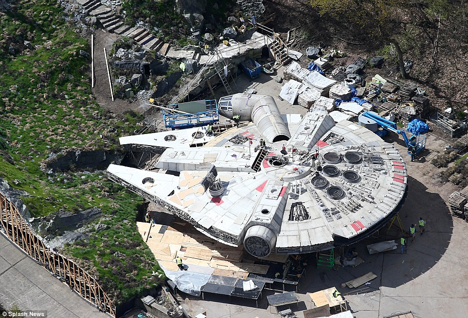 Millenium Falcon in all its glory, photo Daily Mail