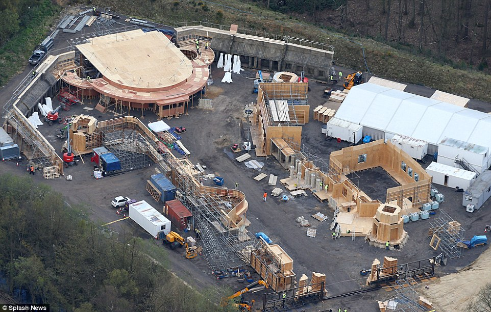 Another set being built at Pinewood Studio, photo Daily Mail