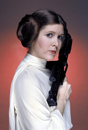 Carrie Fisher as Princess Leia, photo: Wikipedia