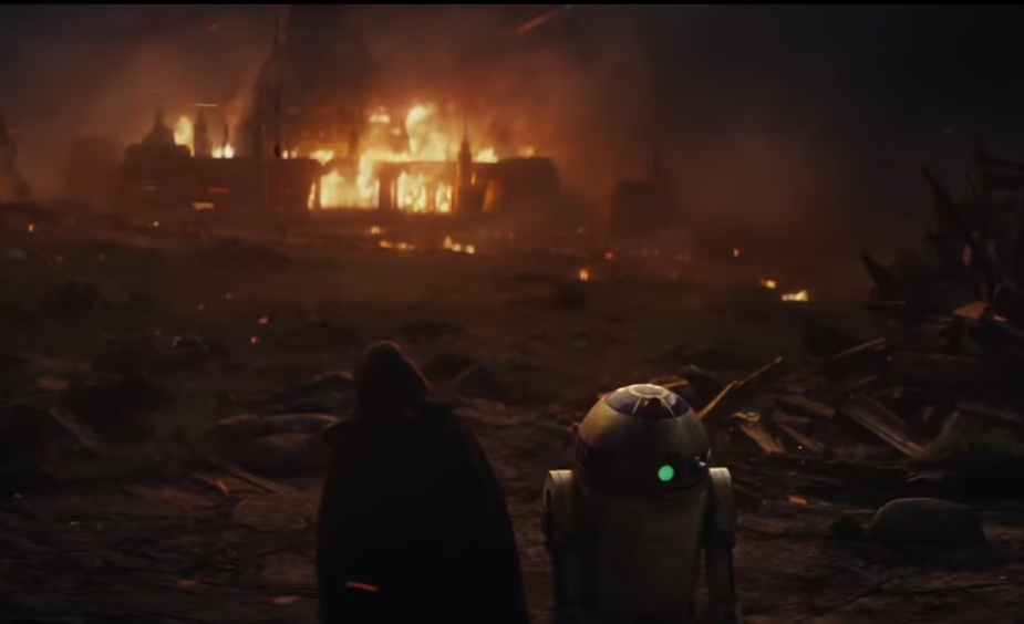 Screen grab The Last jedi teaser trailer