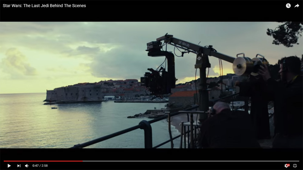 Dubrovnik Panorama, Source: Star Wars YouTube