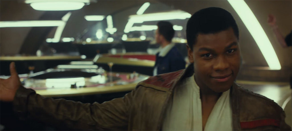 John Boyega in Supposed Canto Bight Interior, source: Star Wars YouTube